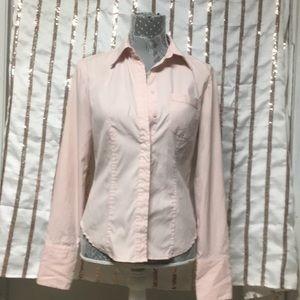 Express Light Pink Buttoned Up Blouse